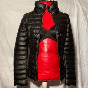Guess puffer faux leather jacket